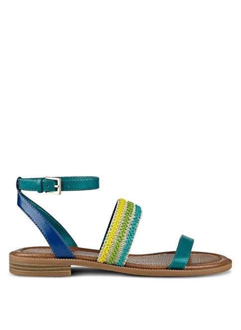 Nine West Bilekten Bağlamalı Sandalet Yeşil
